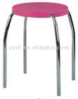 Outdoor garden stool with plastic seat