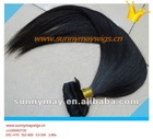 Brazilian virgin human hair weft sunnymay hair natural color straight clips in weft