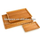 Wood food tray