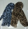 2012 New Design Leopard pattern printing woven Lady Scarves