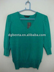 24318pcs Ladies' 80% Viscose 20% Nylon V-neck Pullover Sweater