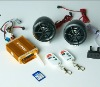 FM and MP3 motorcycle alarm system with USB