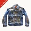 (# TG095J) 2012 98% Cotton 2% Spandex denim material Designer Brand Logo Lady Denim Jacket