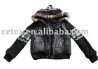 Mens padding jacket with knitted sleeves and hoods,style no. FOLK