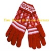 fashion ladies cashmere knitted gloves