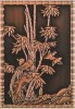 the bamboo pattern bronze embossed mural painting