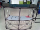 Folding and curved aluminum pop up promotion table