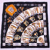 Fashion brands design square twill silk scarf