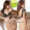 Hot Sale Feather Short White Evening Party Dress
