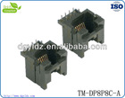 Hot sell RJ11/RJ45 DP socket with 6p6c