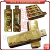 Luxury gift Gold brick usb stick, Gold Bullion pen drive, Gold Bar usb flash drive