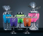 wine bottle glass holder,wine glass candle holders,wine glass cooler