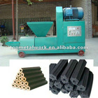 High efficiency charcoal briquette extruder machine
