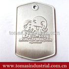 Customized alloy engrave dog tag metal craft