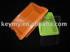 PVC, PET, PS Plastic box with lid in different types