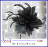 fashion feather hair flower head flower with hair clip