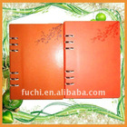 Factory direct Highly qulity Fashion spiral leather book cover for Business man with customize Logo