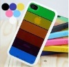 rainbow soft TPU case for iphone 4