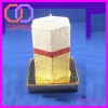 tall decorative purple pillar candle