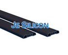 Extruded silicone hard rubber edging strip