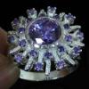 Hot selling gemstone ring design mens