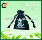Cheap Small 80gsm PP Nonwoven Fabric Skeleton Print Drawstring Bag