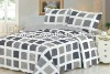 Green washable duvet /cotton printed king quilt set