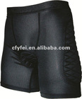 Protective padded cycling coolmax mesh shorts