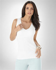 knitted soft organic cotton jersey lounge stretch v-neck rib tank