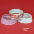 E071 Melamine Material High Quality Double Dog bowls 18.5*18.5*5.5 CM MOQ 2000pcs Pet Products 1pc/opp Bag
