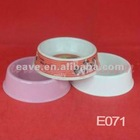 E071 Melamine Material High Quality Double Dog bowls 18.5*18.5*5.5 CM MOQ 2000pcs Pet Products 1pc/opp Bag