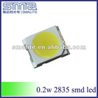 Top 0.2w cree single chip 2835 cool white smd led