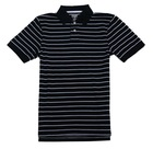 100 cotton pique stripe polo shirts for men