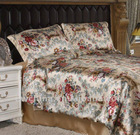 Single Double King Super King silk printed seamless silk bed linen