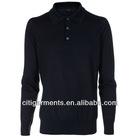 Men's Navy Long Sleeve Polo Shirt 3358