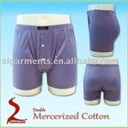 Double mercerized 100% cotton men underwear boxers