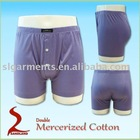 Double mercerized 100% cotton men underwear boxers