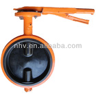 10 inch hand lever operated wafer butterfly valve without pin(DI+VITON coated disc)