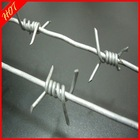 887)HOT sale!galvanized,PVC coated barbed wire(10 year manufactory)