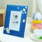clour maple leaf printing glass photo frame