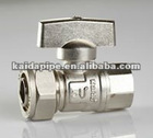 Manual butterfly handle brass ball valves for composite pipe