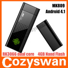 mk809 Android 4.1 Google TV Dongle Dual Core Cortex A9 WiFi 1080P 3D RK3066 Mini PC