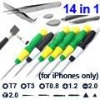 14 in 1 Screwdriver Open Tools Kit for iPhone 4 4s 3G/S