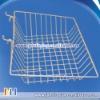 "Slat wall/Grid wire wall Basket 15"" Long X 12"" Deep X 5"" High With 3"" Slant"