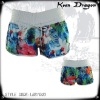 Lady's fashion short 100% polyester printed cheap board shorts