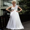DORISQUEEN(DORIS) New One Shoulder Hand Make Flowers White Wedding Bridesmaid Dresses