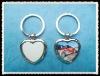 Hot sale!sublimation heart shape keyring/sublimation keyring