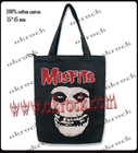 skull bag rock punk bag shopping sack