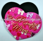 (China mainland factory)promotional gift heart shape mouse pad