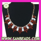 Resin Rhinestone Bib Collar Necklaces Wholesale